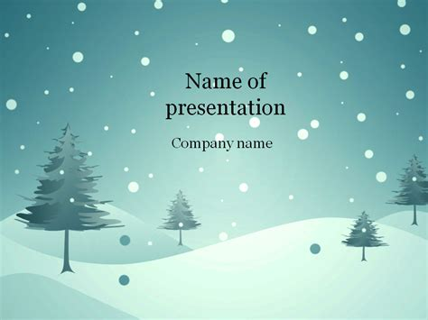 download free blue winter powerpoint template for presentation