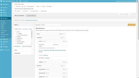design menu wordpress menu s handleiding wordpress