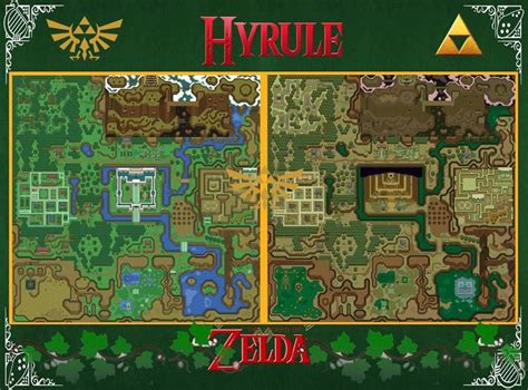 legend of zelda overworld map pdf zelda map a link to the past wall poster 22in x 34in