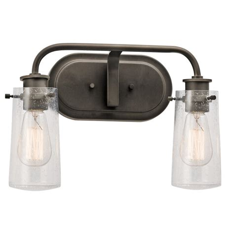 Retro Bathroom Vanity Lights Kichler 45458oz Braelyn Retro Olde Bronze Finish 10 Quot 2 Light Bathroom Vanity Light Kic