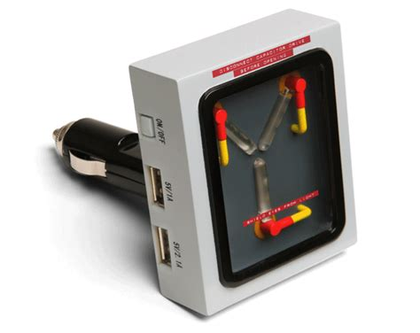 capacitor cell phone charger flux capacitor usb car charger thinkgeek