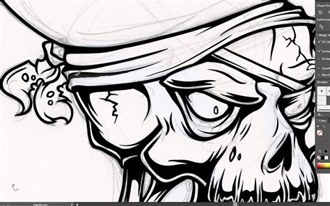 vector line art tutorial illustrator adobe illustrator tutorial how to draw a vector pirate