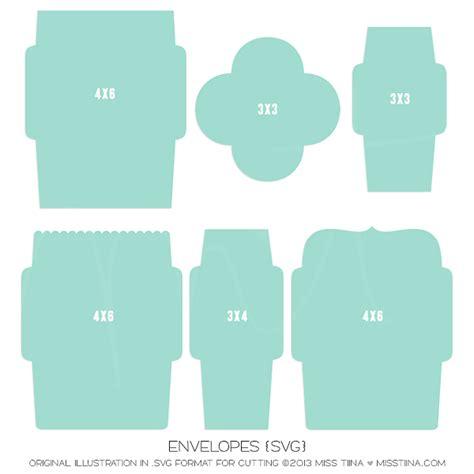 cricut templates envelope templates in svg format miss tiina digital