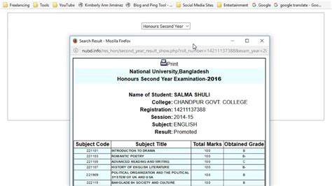 bangladesh porisonkhan buro result 2016 how to get hon s 2nd year result 2017 2016 result only