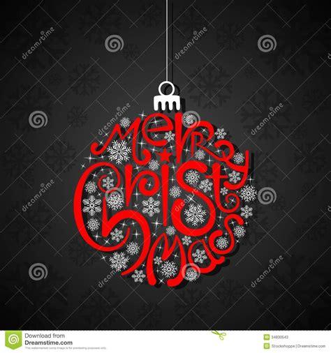 typography christmas card stock  image