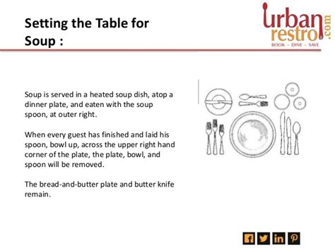 how to set up a formal dining table urbanrestro