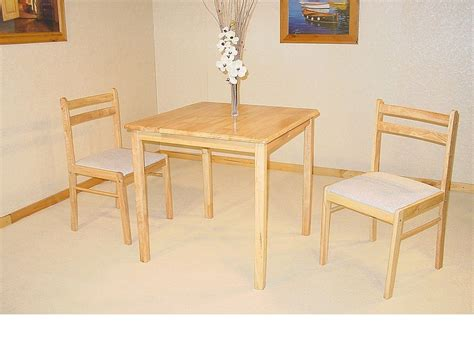 small square solid rubberwood dining table amp 2 chairs