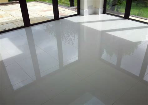 white shiny floor tiles tile design ideas