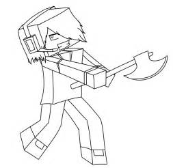 Minecraft Character Drawing Template by Minecraft Story Mode Coloring Pages Coloring Pages