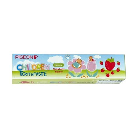 Pigeon Toothpaste Strawberry 45 Gr jual pigeon toothpaste strawberry white pasta gigi bayi