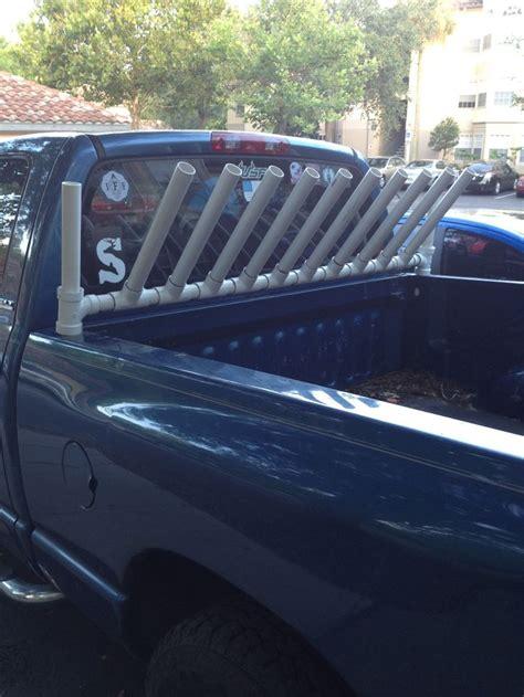fishing rod rack for truck fishing