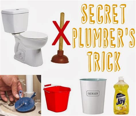 learn the secret plumbers trick to unclog a toilet diy craft projects