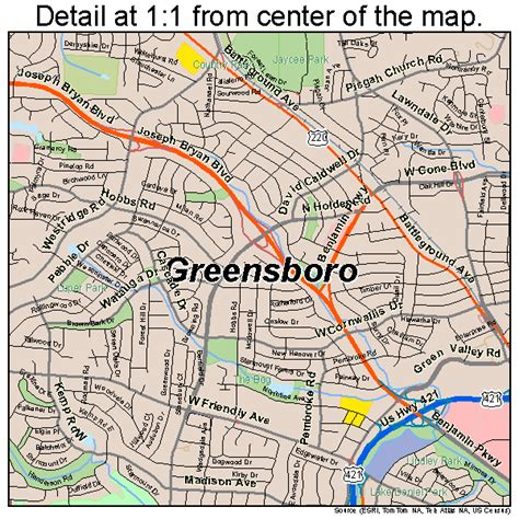 Greensboro Nc greensboro carolina map 3728000