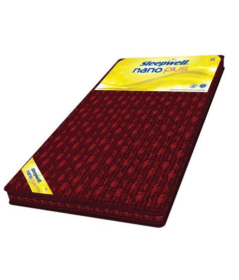 Price Of Mattress by Sleepwell Single Size Nano Plus Mattress 72x35x4 Inches Buy Sleepwell Single Size Nano