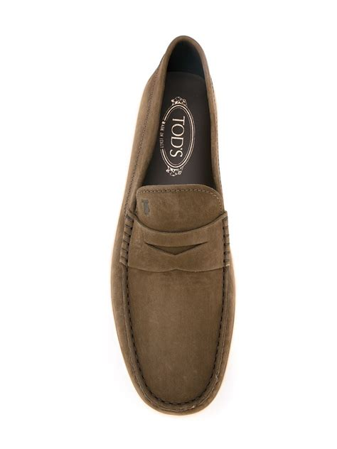 rubber soled loafers tod s tod s rubber sole loafers in brown for lyst