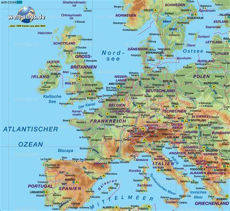 Karte Deutschland Italien by Karte Mitteleuropa 220 Bersichtskarte Regionen Der