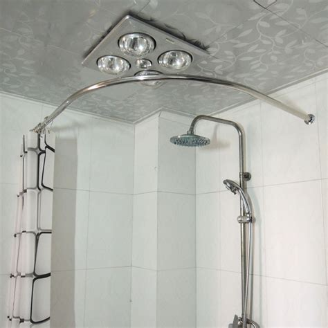 corner bathtub shower curtain rod copper thickening sus304 stainless steel l shower curtain