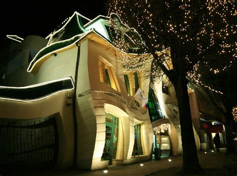 crooked house in sopot poland is like a children s book art of design the crooked house sopot poland