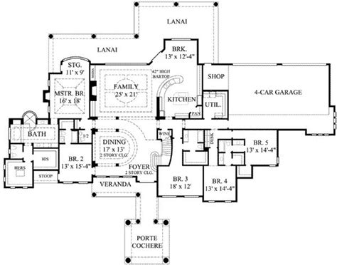 7 bedroom house floor plans 7 bedroom house plans