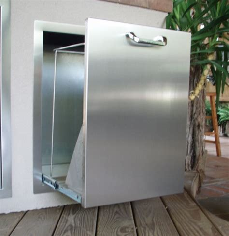 outdoor kitchen stainless doors and drawers rtd1 new rcs brand stainless steel pull out trash drawer for outdoor kitchens