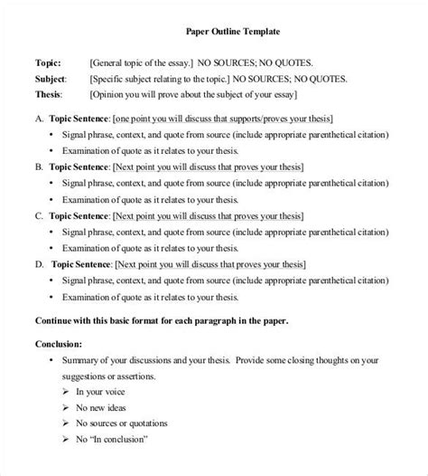 template of an essay essay outline template 25 free sle exle format