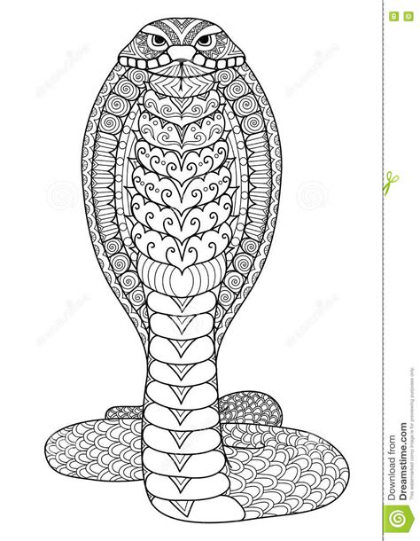 snake mandala coloring pages lignes propres conception d de griffonnage de serpent