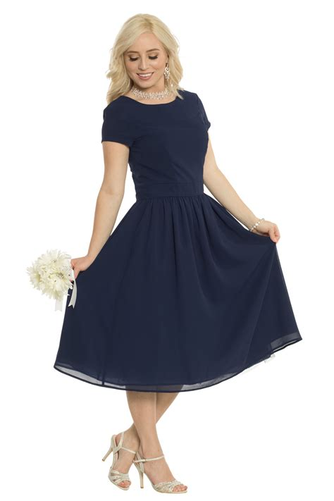 002 Semi Formal Dress jenclothing s quot quot semi formal modest dress in navy blue