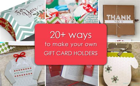 How To Make Your Own Gift Cards - 20 ways to make your own gift card holders gcg