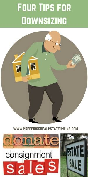 tips for downsizing four tips for downsizing pin frederick real estate online