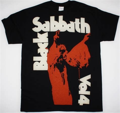Black Sabath Vol 4 T Shirt black sabbath vol 4 1972 jumbo print new black t shirt