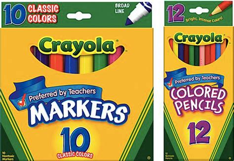 markers and colored pencils school supply deals crayola colored pencils 0 97