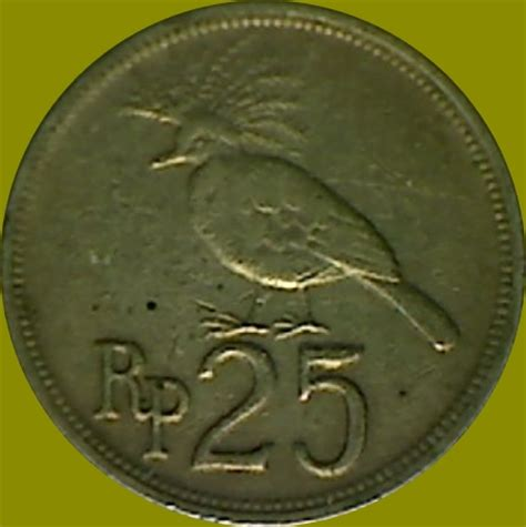 Koin Rp 50 Emisi 1971 serba serbi gambar burung dalam rupiah