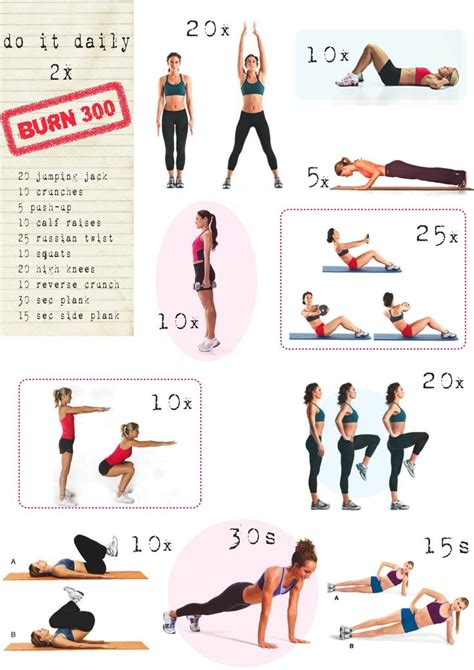 25 best ideas about 300 calorie workout on