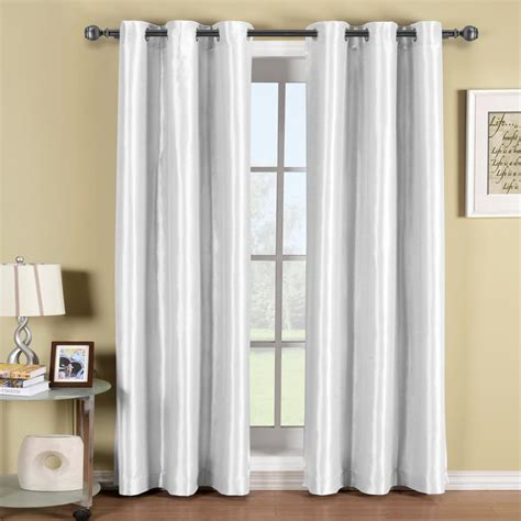Blackout Curtains White Soho White Grommet Blackout Window Curtain Panel Ebay