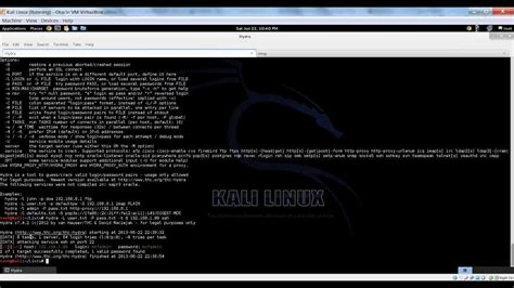tutorial hydra kali linux cracking ssh with hydra on metasploitable in kali linux