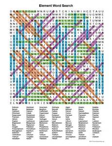 element word search activity