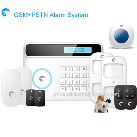 wired wireless home security alarm systems lcd keyboard