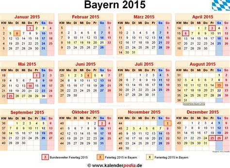 Feiertage Kalender 2015 Kalender 2015 Bayern Ferien Feiertage Excel Vorlagen