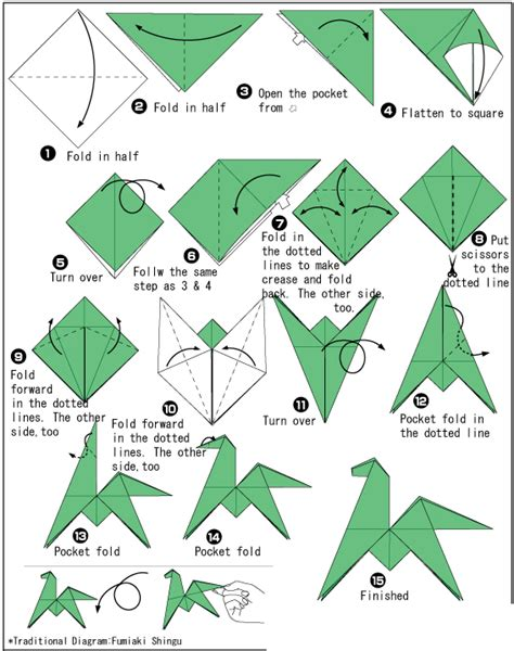 Step By Step Origami Animals - easy step by origami 1 design