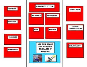 science fair board template science fair presentation board template images