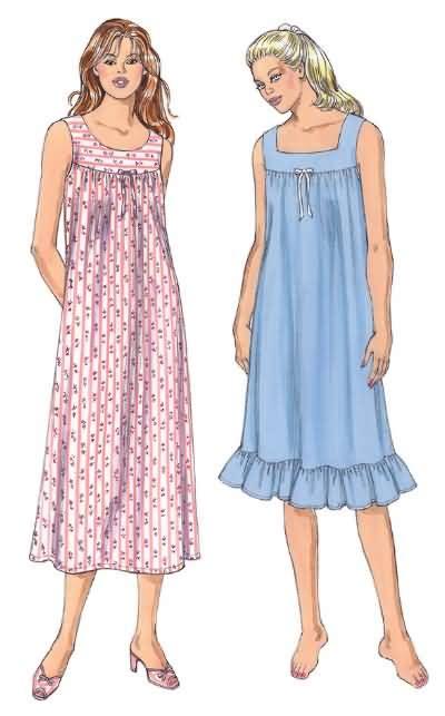 sewing pattern nightie kwik sew 3343 misses nightgown
