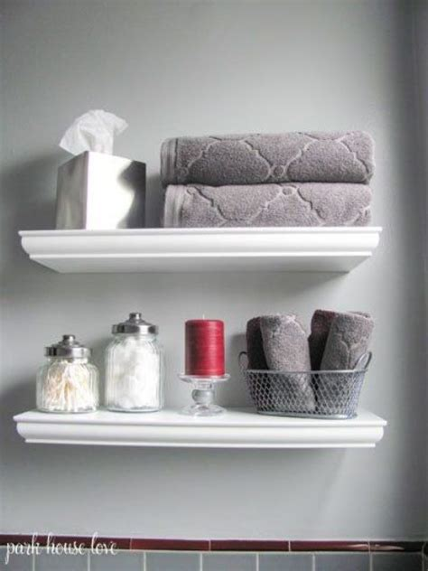35 Floating Shelves Ideas For Different Rooms Digsdigs White Shelves Bathroom