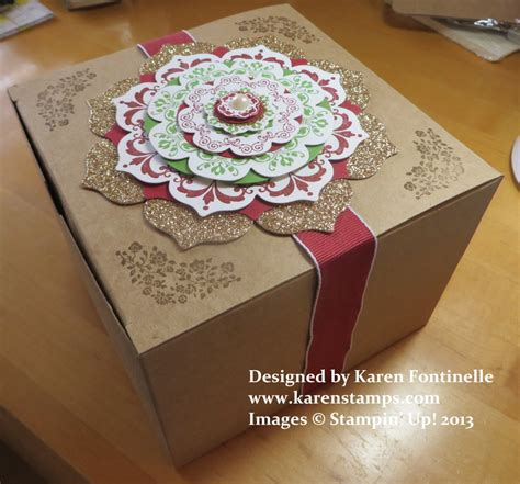How To Decorate A Box by Decorate Your Kraft Gift Box With Daydream Medallions