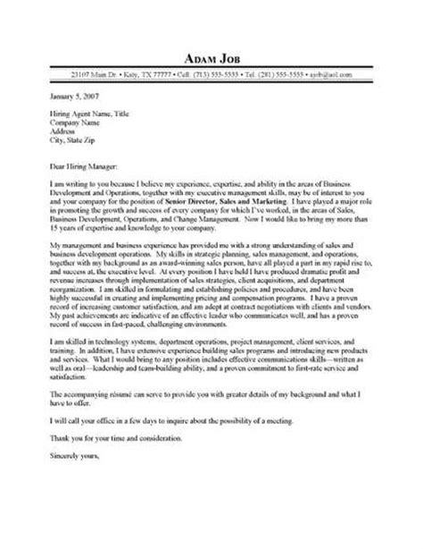 sle executive cover letter sales executive cover letter sle