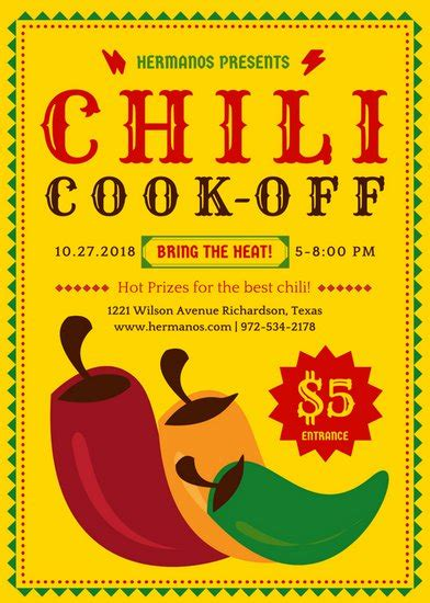 Customize 666 Event Flyer Templates Online Canva Chili Cook Flyer Template Free