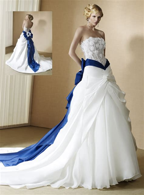 white and blue wedding dresses unique blue and white wedding dresses ideal weddings