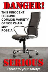 Office Chair Safety Tips Office Safety Diary Of An Office Rebel