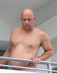 pic vin diesel s dad bod actor goes shirtless shows