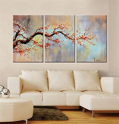 home decor painting gallery wrapped canvas floral art amazon com