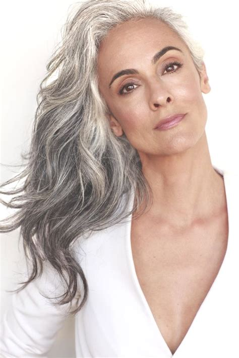 models with gray hair grey hair silver hair and silver foxes on pinterest